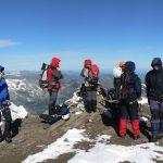 Závěrečný den. Větrný vrchol Mittlerer Bärenkopf (3 359 m. n. m.).