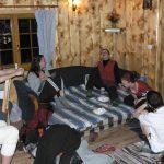 Samotný Silvestr jsme strávili na chatě, velmi se ujala šišlací hra se sirkami.