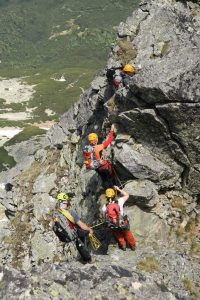 Jedna z lezeckých pasáží.