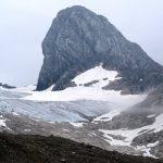 Ještě jeden pohled na ledovec pod Dachsteinem.