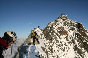 Na hřebenu Kleinglockneru, hlavní vrchol už je na dosah.