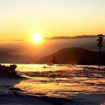 Východ slunce z Chaty pod Chlebom.