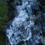 Během stoupání jsme překračovali několik ledovcových potoků.