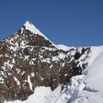 Hřeben a vrcholová část Lyskammu.