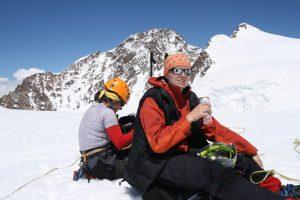 Nejvyšší vrchol Monte Rosy, Dufour.