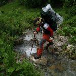 V programu bylo i brodění bažiny a překonávání potoku.