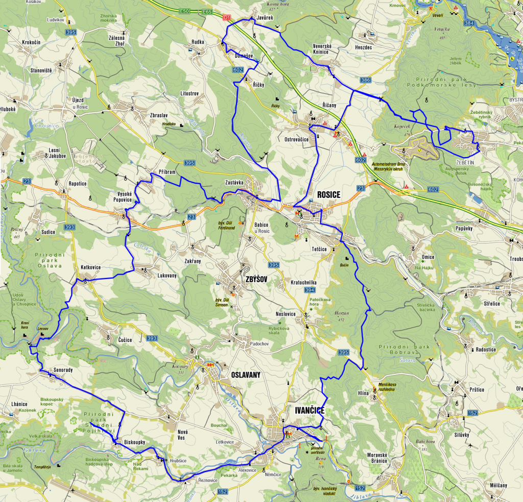 Mapa trasy.