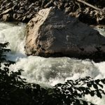Řeka Enns, nesjízdná pasáž s hrozivou masou vody.