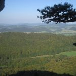 Tradiční krásný výhled z peilsteinských skal.
