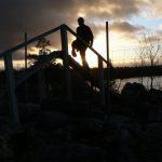 Přechod sobího plotu na hranici mezi Norskem a Švédskem.