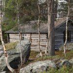 Langtjønnbua, nejhezčí a zároveň nejstarší chata v oblasti.