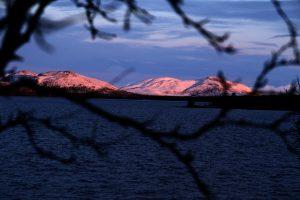 Krásné barvy svítání.