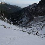 Cesta vzhůru Velkou zmrzlou dolinou.