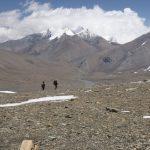 Nejvyšší místo treku, Francouzské sedlo, 5380 m. n. m.