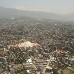 Káthmándú ze vzduchu, takhle jsme Boudhanath ještě neviděli.