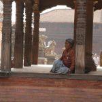 Ráno ve starobylém městě Bhaktapur.