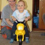 Hurá! Dostal jsem motorku!