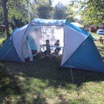 V kempu Belá, zkoušíme nový stan.