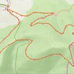 Mapa cyklovýletu na Mravečník.