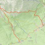 Mapa výletu ve Vysokých Tatrách.