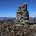 Na vrcholu Dachleiteck, vzadu Vysoké Taury.