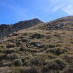 Stoupání na bezejmenný vrchol nad Hasenohrenscharte.