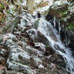Namrzlý vodopád.