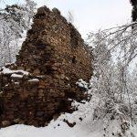 Pozůstatky hradu Víckov.