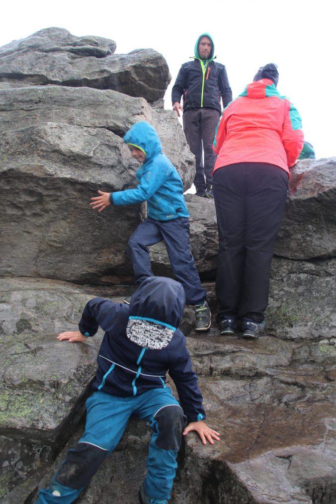 Liják na vrcholu Devíti skal.