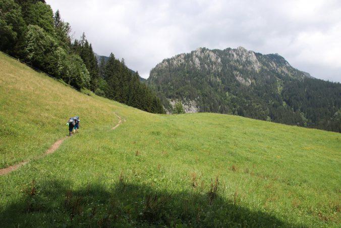 Vyrážíme z Johnsbachu vstříc Hesshütte.
