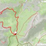 Trasa výletu Hesshütte – Peternscharte – Planspitze – Hesshütte.