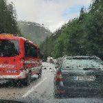 Hodinové zdržení cestou domů u dopravní nehody.